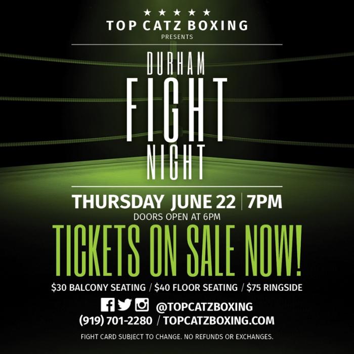 Durham Fight Night Tickets on Sale